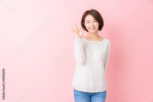 Fotografie, Obraz 笑顔の女性