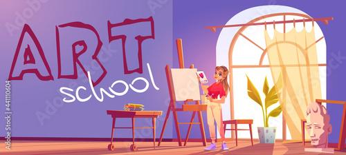 Photo Art school cartoon banner