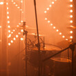 Leinwandbild Motiv Rock band drum set with cymbals, live music