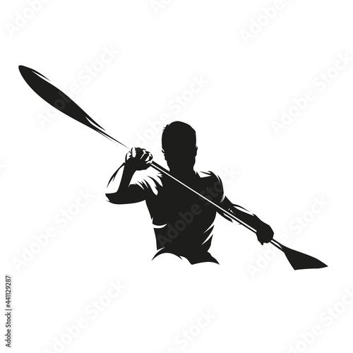 Fototapeta Canoe sprint, kayak logo