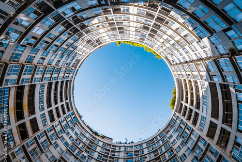 Low angle view of round building in Kunming, Yunnan, China Fototapet