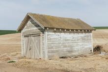 Abandoned Homestead In A Rural Landscape