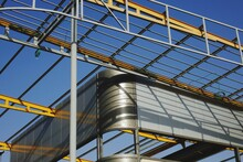 Metallic Structure At Construction Site