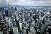 Malaysia, 19 April 2017 - Panorama At Kuala Lumpur City.