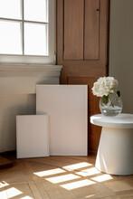 White Frames 30x40 50x70 Mockup Studio Scene