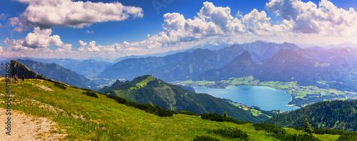 Fotografia View of Wolfgangsee lake from Schafberg mountain, Austria
