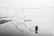 Fishing Of Winter Morning