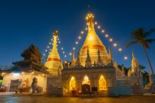 Wat Phra That Doi Kong Mu, Mae Hong Son Province Thailand.