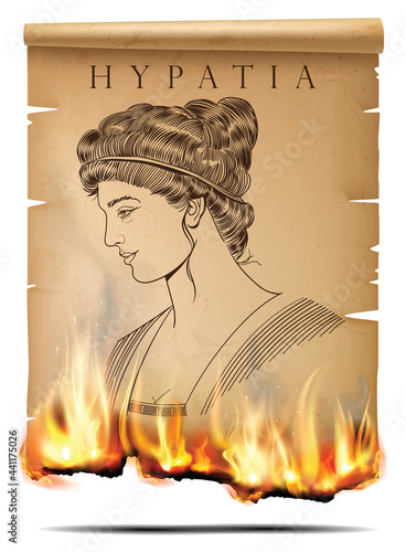 Fotografia Hypatia and burning paper