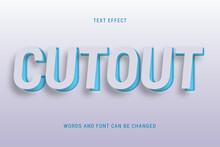 Cutout Paper Text Effect 100% Editable Vector Image