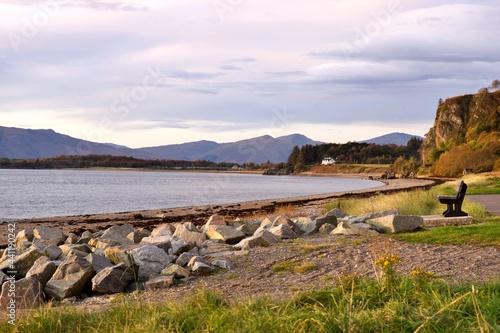 Fotografie, Obraz Evening view North Ledaig near Oban Scotland