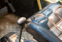 The Gear Lever Is Dusted Inside Of The Dune Buggy