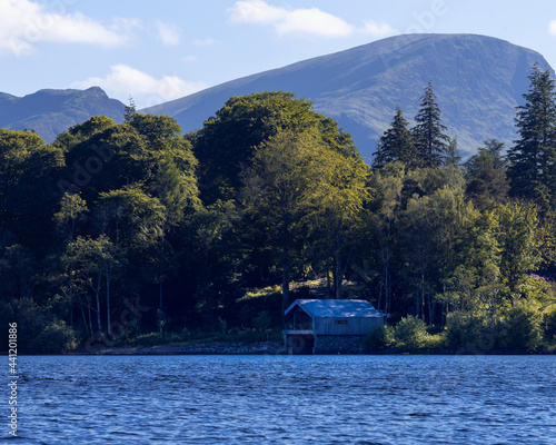 Canvas The boathouse on Derwentwater in The Lake District National Park, Keswick England