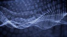 Smart Grid And Communication Concept. Blue, Futuristic Digital Style. 3D Render.