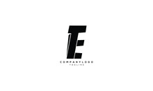 TE ET T AND E Abstract Initial Monogram Letter Alphabet Logo Design