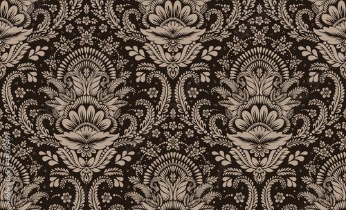 Obraz na plátně Damask seamless pattern element