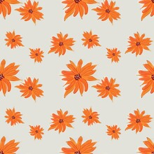 Seamless Floral Pattern Fall