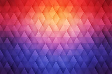 3D Geometrical Triangular Structure Colorful Abstract Background