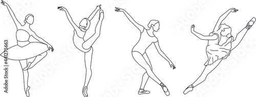 Foto vector ballet dancer poses