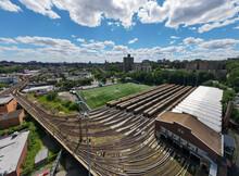 Train Yard. Bronx. New York. Aerial Photo