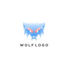 Wolf Colorful Logo Design Ilustration