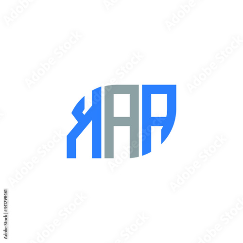 Canvas Print KAA letter logo design on white background