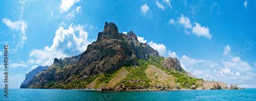Fotografia extinct volcano Karadag, View from the boat