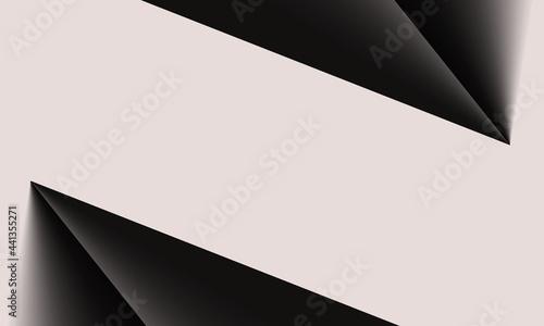 Fotografia, Obraz Triangle background, geometric graphic, white paper art, abstract background, mo