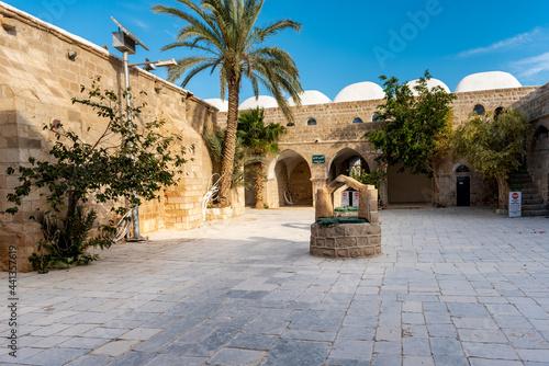 Obraz na płótnie Nabi Musa site and mosque at Judean desert, Israel