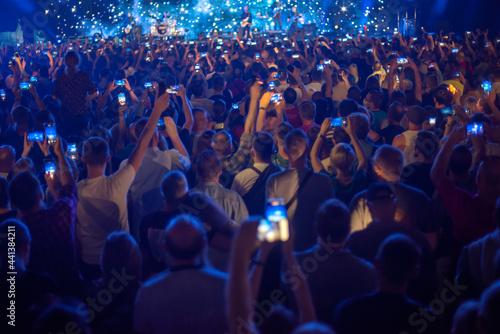 Obraz na plátně People at the concert