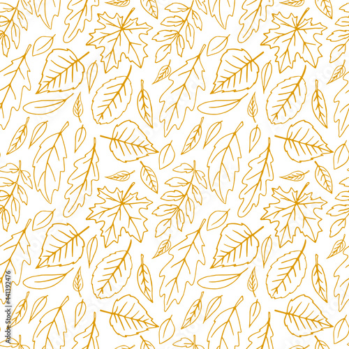 Tapety Skandynawskie  wzor-spadajacych-lisci-wektor-jesien-tekstura-na-bialym-tle-recznie-rysowane-w-stylu-szkicu-pomaranczowy-kontur-pojecie-lasu-opadanie-lisci-natura
