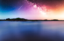 Calm Body Of Water Under The Colorful Sky, Nature Wallpaper