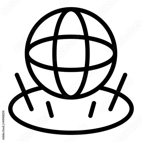 Canvas Print Globe hologram projection icon