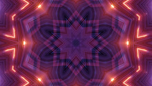 Vibrant Kaleidoscopic Illustration In Purple And Orange Colors - Cool For Wallpaper Or Background