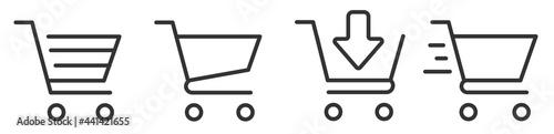 Fotografie, Obraz Shopping cart icon set