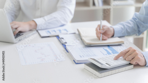 Canvas Print Man Analysis Business Accounting working withIndividual income tax return