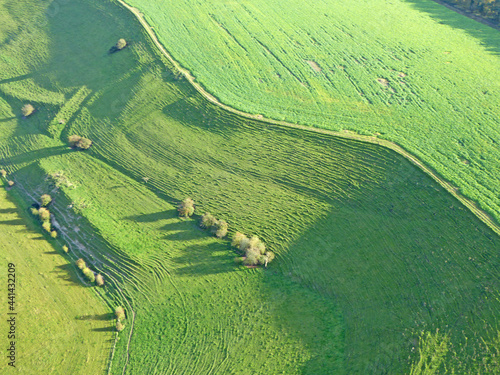 Wallpaper Mural Paragliding above the fields at Monks Down in Wiltshire