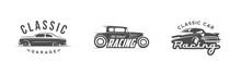 Set Of Vintage Car Logos, Emblems, Badges