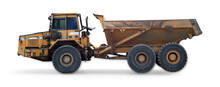Dump Truck Isolated On White Background Construction Site Equipment