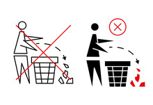 Keeping The Clean. Forbidden Icon. Pitch In Put Trash In Its Place. Tidy Man, Do Not Litter, Icon. Please Do Not Throw Rubbish. Do Not Litter, Place Rubbish In Bins Provided