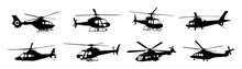Helicopter Silhouette Vector Collection