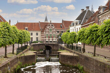 A Small Lock In The Center Of Amersfoort.