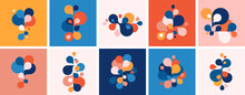 Set Of Abstract Modern Graphic Elements And Forms. Abstract Banners With Flowing Liquid Shapes