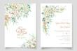 elegant hydrangea flower invitation card set