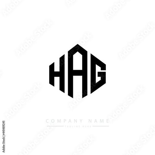 Fotografija HAG letter logo design with polygon shape