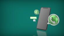 3D ICON WHATSAPP PHONE