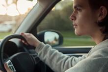 Teenage Boy Driving