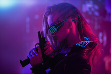 Girl Cyberpunk Warrior