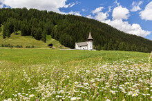 Church Of The Dear Lady, Frauenkirch On The Green Hill, In Davos District, Grisons, Switzerland