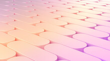 Abstract Background For Presentation, Geometry Chamfer Pattern Gradient Color. 3d Rendering